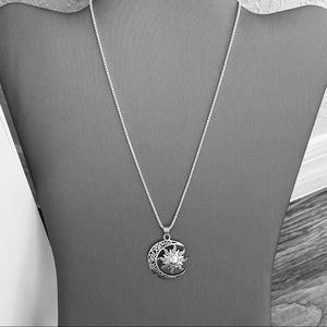 Jewelry - 🌙☀️NEW🌙☀️ Silver Large Moon and Sun Necklace